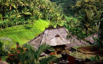 Indonézia168 A Kamandalu folyóvölgyre néző bungalója