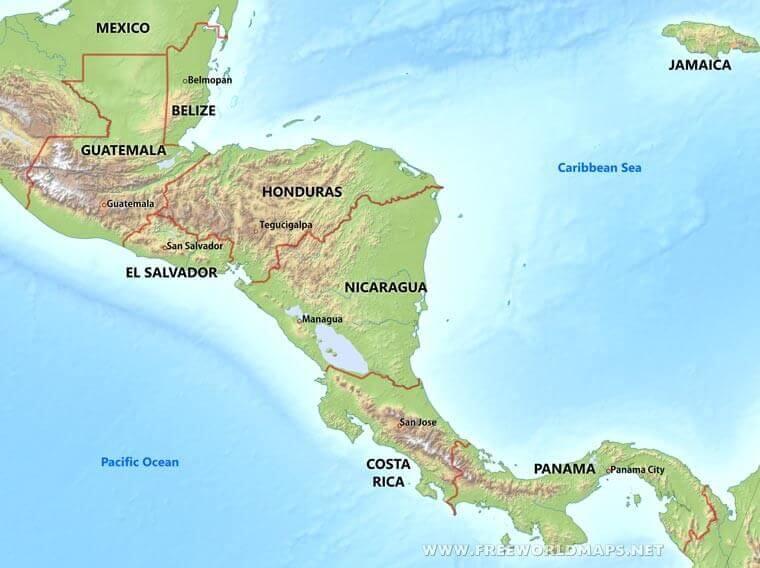 Angkor Tours Costa Rica térkép