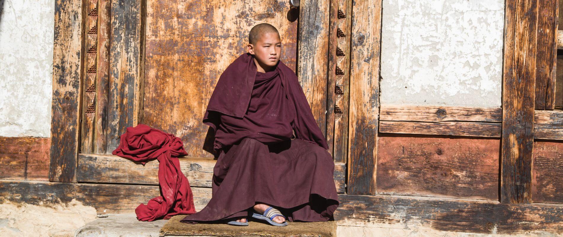 Angkor Tours Bhután szerzetes